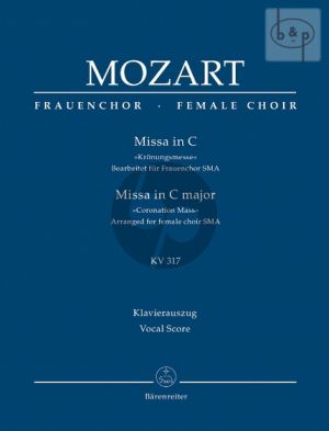 Kronungsmesse C-major KV 317 (arr.for female choir) (Vocal Score)
