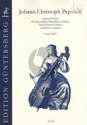 Sonata d-minor (Cook 2:023) (Flute[Vi./Rec.]- Va.[Va.da G.]-Bc)
