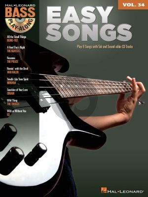 Easy Songs (Bass Play-Along Volume 34) (Book with Audio online)
