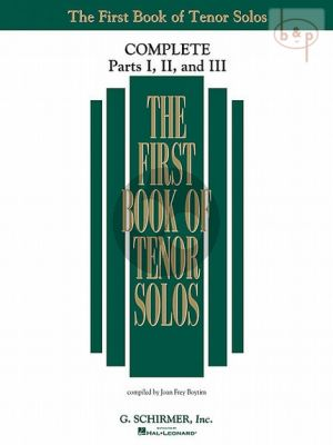 First Book of Tenor Solos Complete Part 1 - 2 - 3