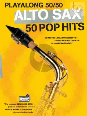 Playalong 50 / 50 Alto Sax. (50 Pop Hits) (Book with Download Card) (edited by