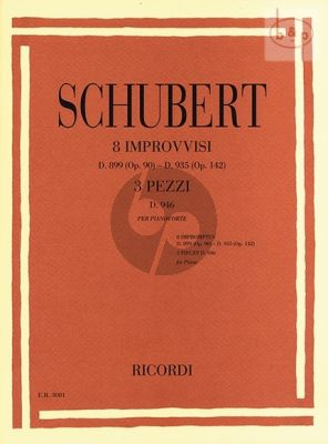 8 Impromptus D.899 Op.90 and Impromptus D.935 Op.142 with 3 Pieces D.946