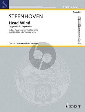 Steenhoven Head Wind Treble Recorder solo (with Ventilator ad lib.)