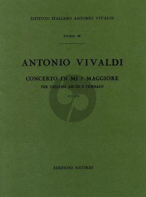 Vivaldi Concerto Mi-Bem. RV 254 Violino-Archi-Cembalo