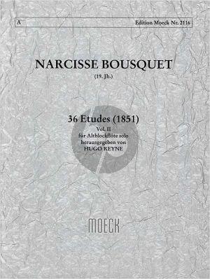 Bousquet 36 Etuden Vol.2 (No.13 - 24) Altblockflöte (1851) (Reyne)