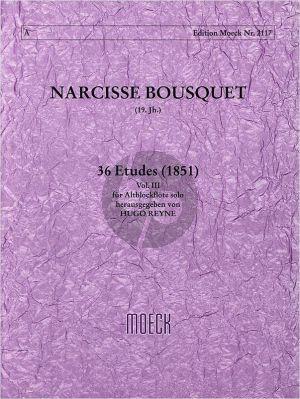 Bousquet 36 Etuden Vol.3 (No.25 - 36) Altblockflöte (1851) (Reyne)