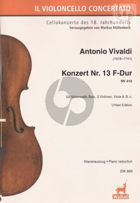 Concerto No.13 F-major RV 410 (Violonc.- 2 Vi.- Va.-Bc)