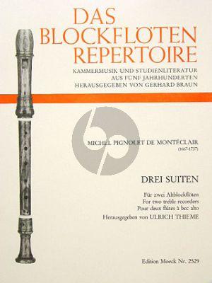 Monteclair 3 Suiten 2 Altblockflöten (Concert No.2 - 4 - 5) (Ulrich Thieme)