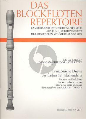 Franzosische Duette des frühen 18 Jahrhunderts 2 Altblockflöten (Ulrich Thieme)