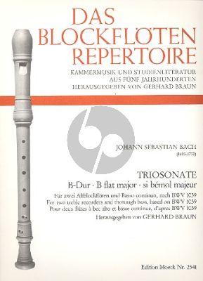 Triosonate B-dur nach BWV 1039