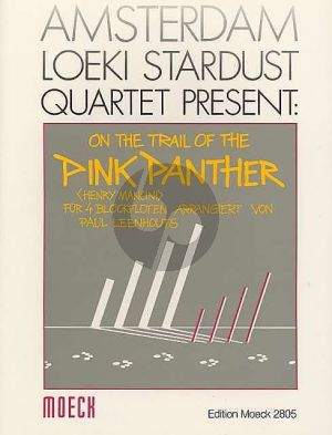 Mancini On the Trail of the Pink Panther 4 Blockflöten (SATB) (Part./Stimmen) (transcr. Paul Leenhouts)