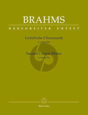 Brahms Geistliche Chormusik (Sacred Choral Music) (SATB) (edited by Peter Schmitz)