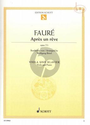 Apres un Reve Op.7 No.1 (Viola-Piano)