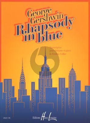 Gershwin Rhapsody in Blue for Clarinet Bb - Piano (Arr. Frederic Gellier)