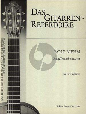 Riehm KlageTrauerSehnsucht 2 Gitarren