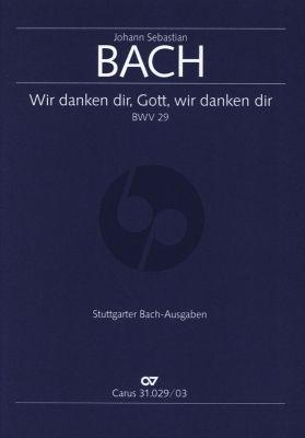 Bach Kantate BWV 29 Wir danken dir, Gott, wir danken dir (Klavierauszug) (deutsch/englisch)
