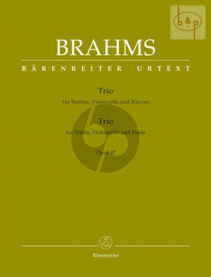 Trio C-major Op.87 (Violin-Violonc.-Piano) (Score/Parts)