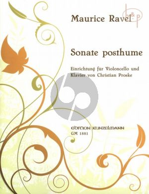 Sonate Postume Violoncello and Piano