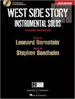 West Side Story Instrumental Solos (Violin-Piano) (Bk-Cd)