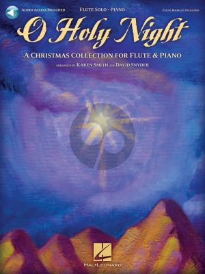 O Holy Night Flute-Piano (Book with Audio online)