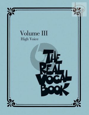 The Real Vocal Book Vol. 3 High Voice