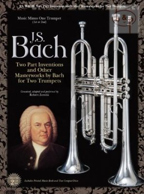 Bach 2 Part Inventions and other Master Works for 2 Trumpets (Bk-2 CD's) (Bob Zottola) (MMO)