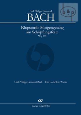 Klopstocks Morgengesang am Schopfungsfeste WQ 239 (SS soli-SSTB-Orch.) (Vocal Score)