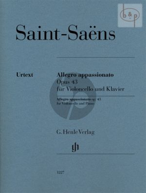 Saint-Saens Allegro Appassionato Op.43 Violoncello and Piano (edited by Peter Jost) (Henle-Urtext)