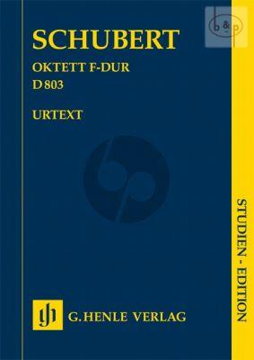 Octet F-major D.803 (Clar.[Bb]-Bsn.-Horn[F]- 2 Vi.-Va.-Vc.-Bass) (Study Score)