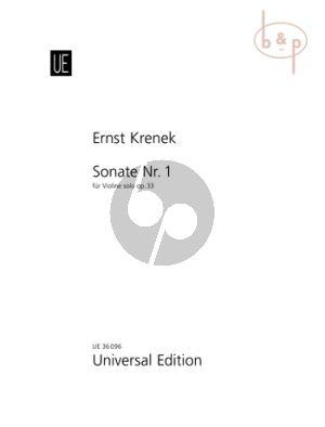 Sonata No.1 Op.33 Violine solo