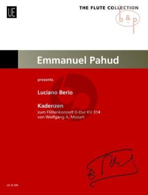 Cadenzas to Mozart's Flute Concerto KV 314