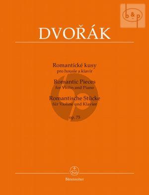 Dvorak Romantic Pieces Op.75 Violin-Piano
