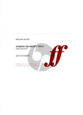 Arnold String Quartet No.2 Op.118 (2 Vi.-Va.-Vc.) (Parts)
