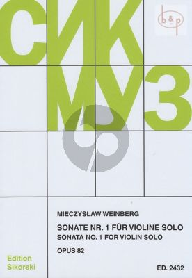 Sonata No.1 Op.82 Violine solo