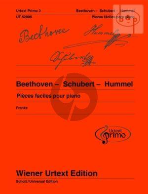 Pieces Faciles pour Piano avec conseils d'exercice par Beethoven-Schubert et Hummel