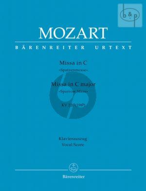 "Missa Brevis C-major KV 220 (""Spatzen Messe"") (Soli-Mixed Choir)-Orch.) (Vocal Score)"