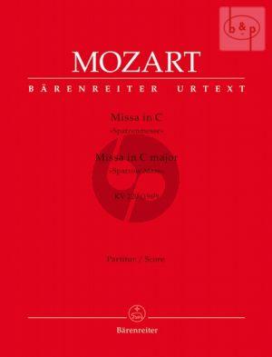"Missa Brevis C-major KV 220 (""Spatzen Messe"") (Soli-Mixed Choir-Orch.) (Full Score)"