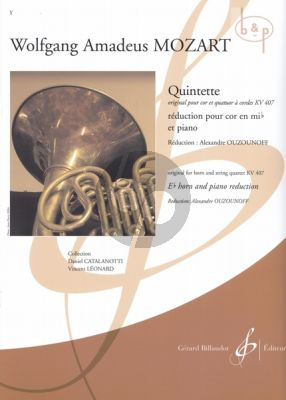 Quintet KV 407 (Horn-Strings) (Horn[Eb]-Piano) (piano reduction by Alexandre Ouzounoff)