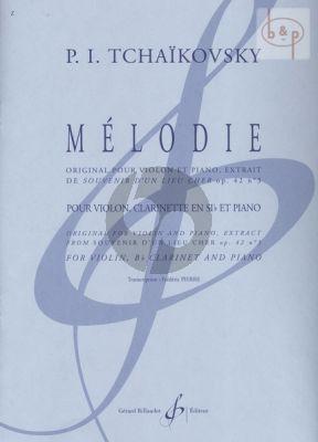 Melodie (from Souvenir d'un lieu Cher) Op.42 No.3 (Violin-Clar.[Bb]-Piano)