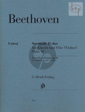 Serenade Op.41 (Flute[Violin]-Piano) (edited by Egon Voss) (fingering by Klaus Schilde)