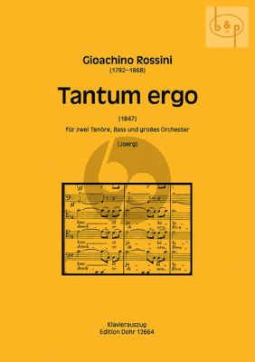 Tantum Ergo (2 Tenors-Bass-Orch.) (1847)