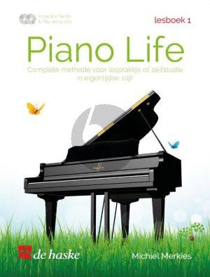Merkies Piano Life Lesboek 1 (Complete methode voor lespraktijk of zelfstudie in eigentijdse stijl) (Bk- 2 CD's)