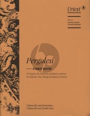 Pergolesi Stabat Mater (Sopr.-Alto soli-Female Choir-String Orch.) Violoncello/Double Bass (edited by Helmut Hucke) (Breitkopf)