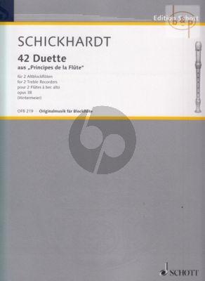 """42 Duets from """"Principes de la Flute"""" Op.38"""