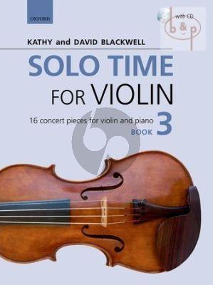 Solo Time for Violin Vol.3 (16 Concert Pieces)