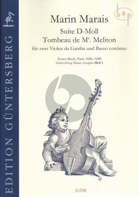 "Suite d-minor ""Tombeau de Mr. Meliton"" (2 Violas da Gamba-Bc)"