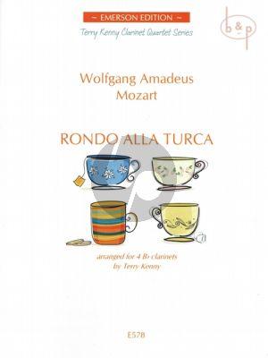 Rondo alla Turca 4 Clarinets(Bb) Score/Parts