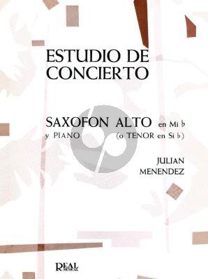 Menendez Estudio de Concierto Alto or Tenor Saxophone and Piano