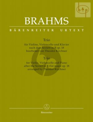 Trio (after the Sextet Op.18) (Vi.-Vc.-piano) (Score/Parts) (arr. by Theodor Kirchner)