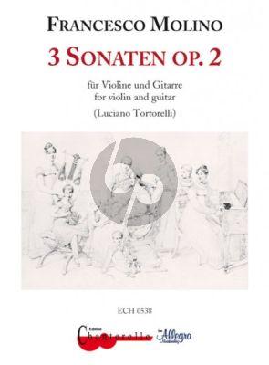 Molino 3 Sonatas Op.2 (Violin-Guitar)